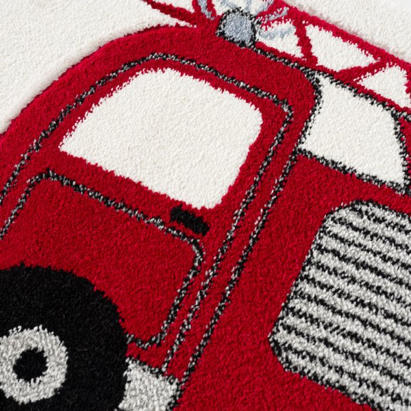 Kids rug Happy Rugs FIRE BRIGADE red 120x180cm