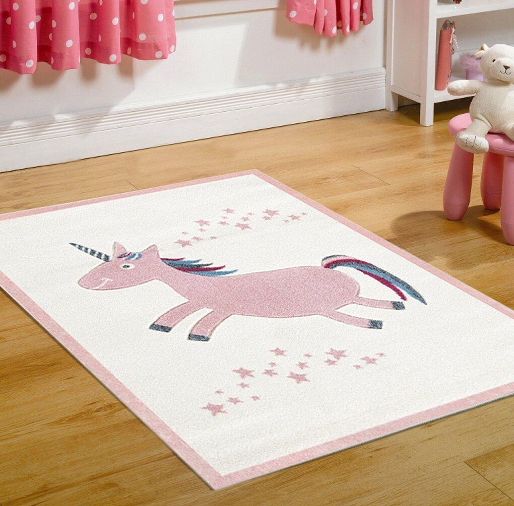 Kids Rug Happy Rugs UNICORN Pink/creme 120x180cm, 119,00