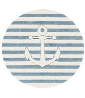 Kids rug Happy Rugs ON THE HIGH SEAS 7 blue/white 133cm...