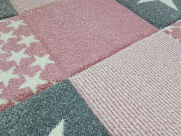 Kinderteppich Happy Rugs STARWALK 3 rosa 120x180cm