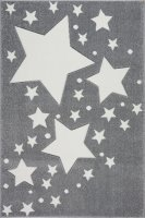 Kinderteppich Kids Love Rugs STARLINE silbergrau/weiss...