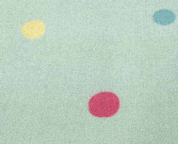 Kids rug Happy Rugs washable LOVE YOU DOTS mint/multicolour 140x190cm