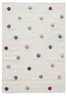 Schurwoll Teppich Happy Rugs COLORDOTS natur/multi...