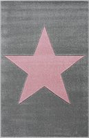 Kids rug Happy Rugs SHOOTINGSTAR silver-gray/pink 120x180cm