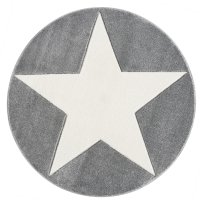 Kids rug Happy Rugs SHOOTINGSTAR silver-gray/white 133cm...