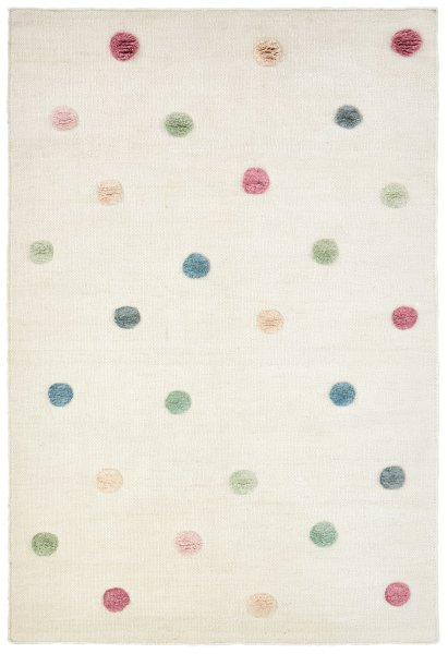 Hand-woven rug Happy Rugs COLORMOON nature/multi 120x180 cm